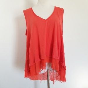 Free People Sleeveless Tank Top V-neck Loose Fit